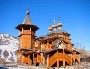 Храм Покрова Божией Матери в селе Усть-Кокса
